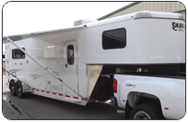 7wide living quarter horse trailers
