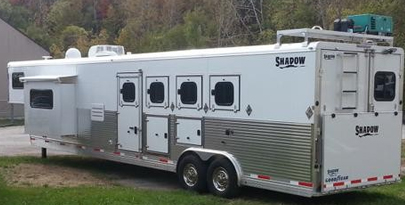 8u0027 Wide Pro Series Living Quarter Horse Trailers